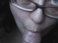 Girl sucks creamsicle together with his cock