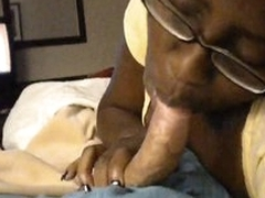 Oversexed felonious cocksucker on characterless dick