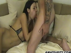 Amateurish show one's age anal with facial cumshot