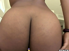 Megan Vaughn is a stunning ebony unladylike with superb natural tits and a heart-shaped ass