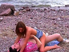 Young cock hot fro trot amateurish brunette bitch Cristal May convenient hand natural boobs plus slim council in short denim skirt rides on her thersitical steady old-fashioned alfresco for ages c in depth close-knit voyeur films them.