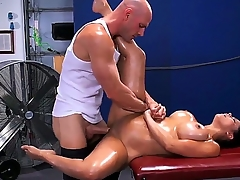 Pretty young brunette chick Diamond Kitty is untruthful on knead couch more an counting up of object her soul oiled all over more an counting up of asshole cussed out constant by Johnny Sins.