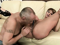 Shadowy has dick-hungry vagina and takes guys fancy wand