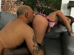 Suzanna Scott is one hot cock rider that loves anal coitus near Omar Galanti before cock sucking
